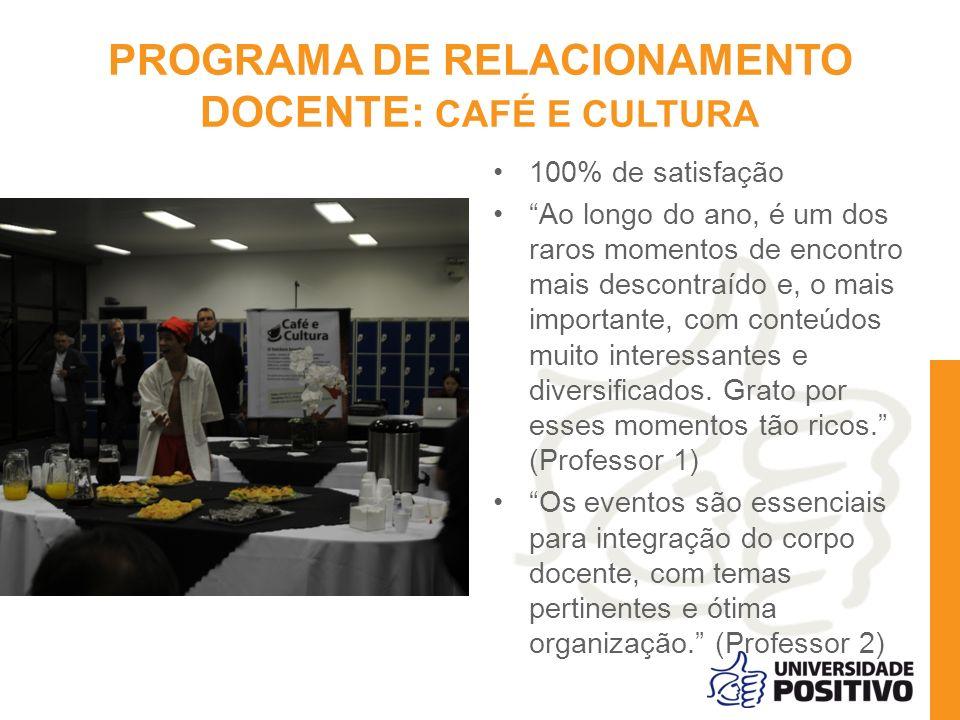 PROGRAMA DE RELACIONAMENTO DOCENTE: CAFÉ E CULTURA