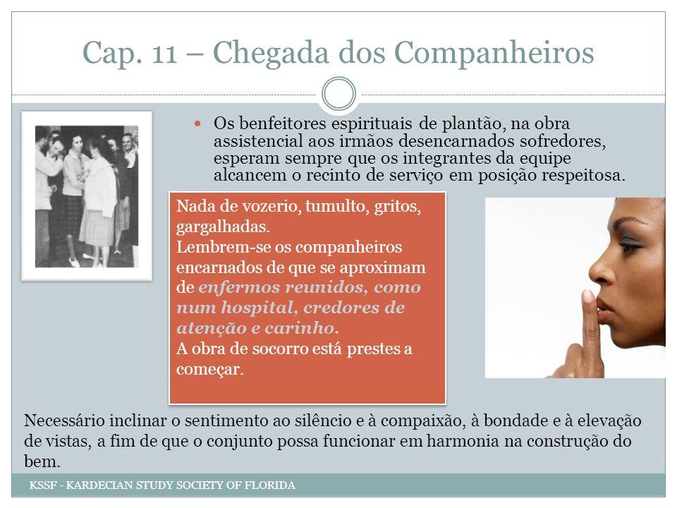 Cap. 11 – Chegada dos Companheiros