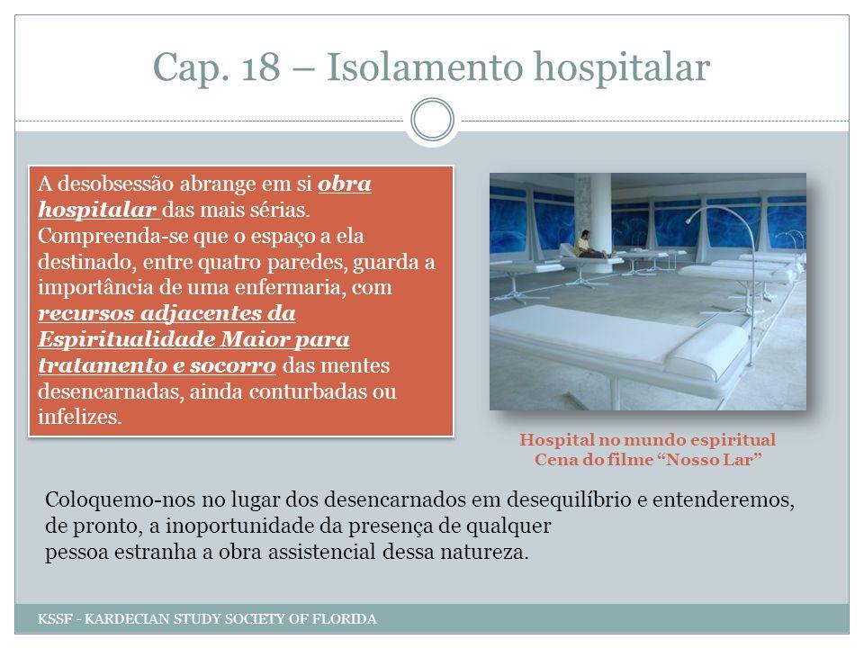 Cap. 18 – Isolamento hospitalar