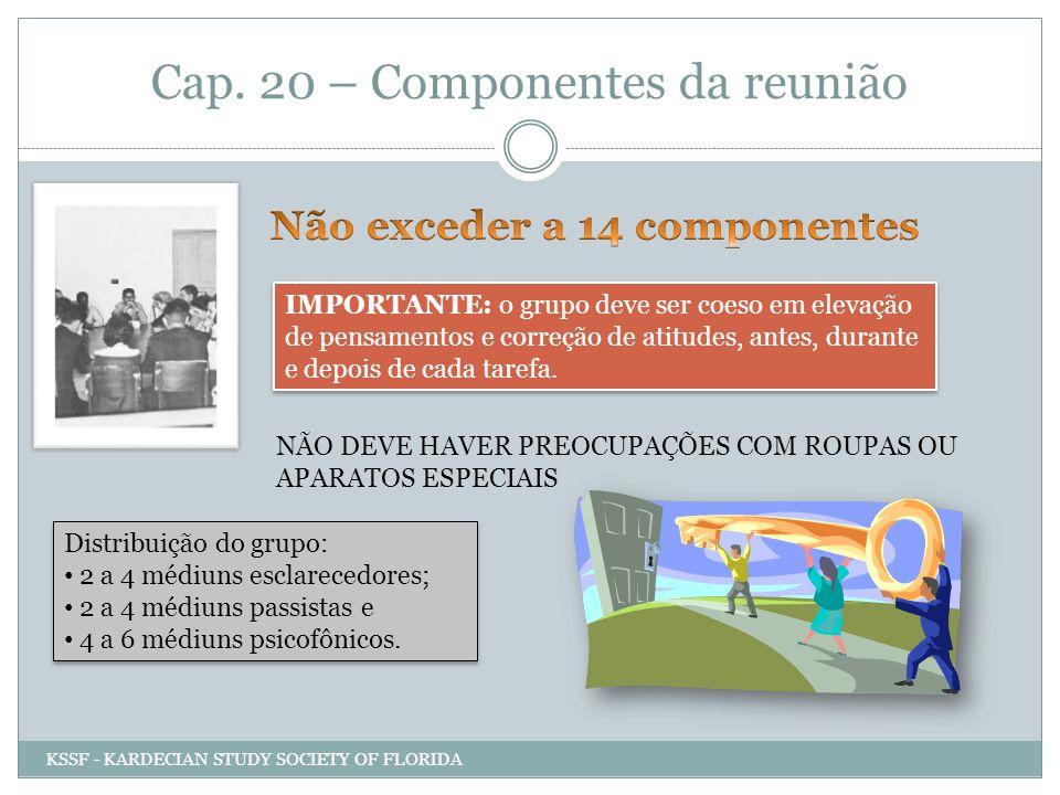Cap. 20 – Componentes da reunião