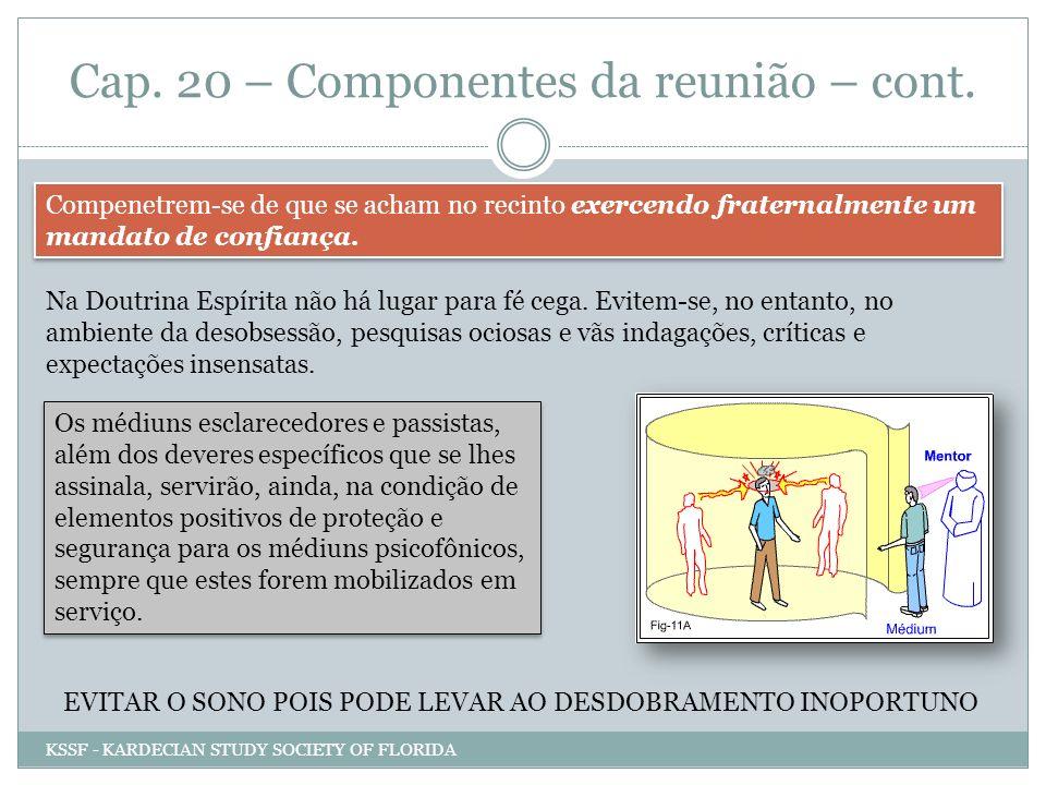 Cap. 20 – Componentes da reunião – cont.