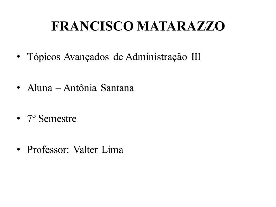 FRANCISCO MATARAZZO Tópicos Avançados de Administração III