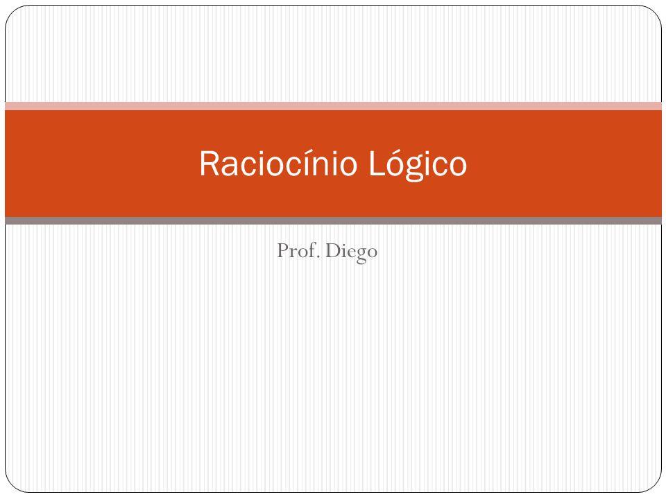 Raciocínio Lógico Prof. Diego