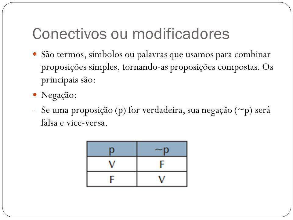 Conectivos ou modificadores