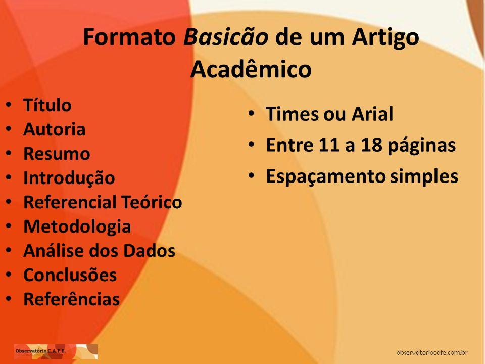 Formato Basicão de um Artigo Acadêmico