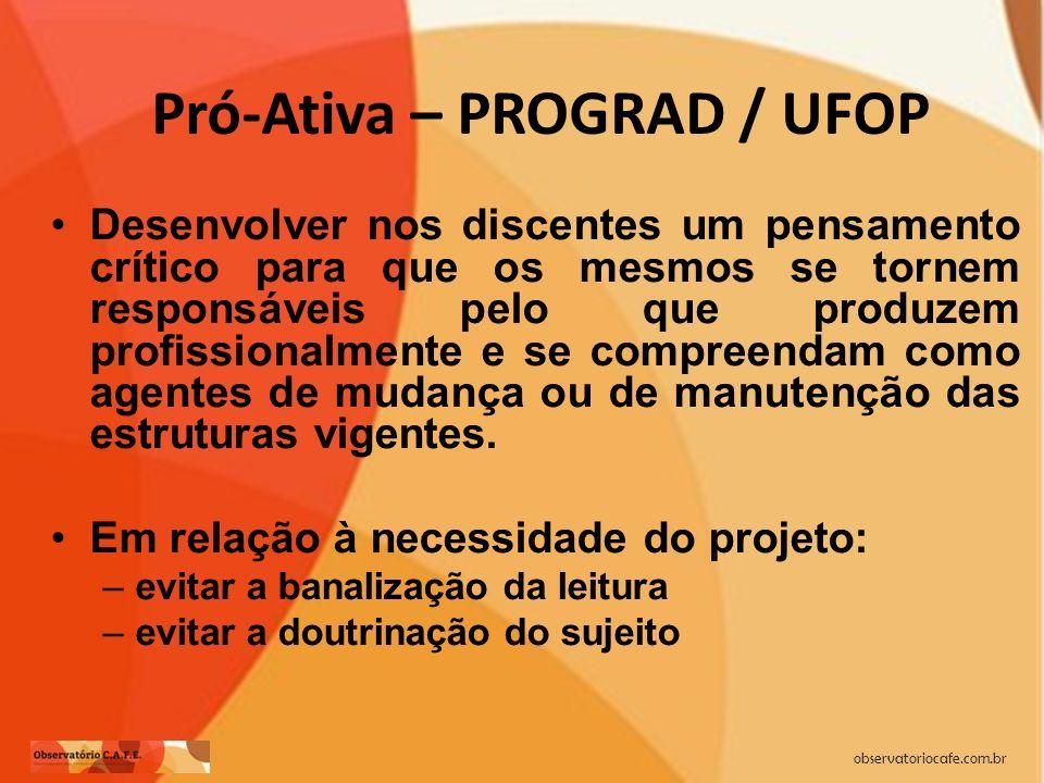 Pró-Ativa – PROGRAD / UFOP
