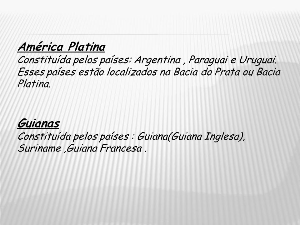 América Platina Guianas