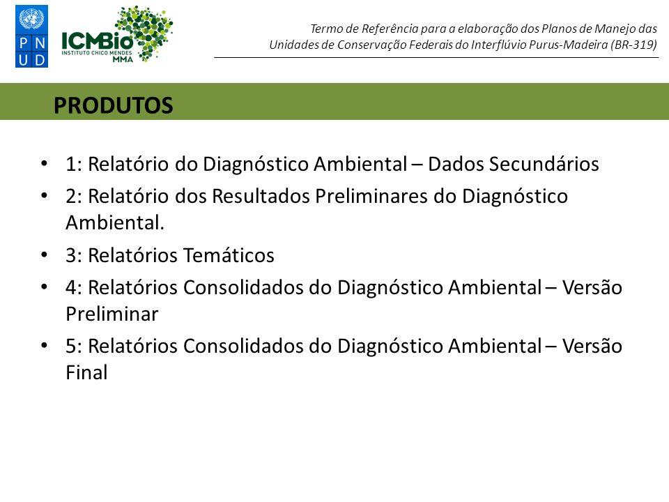 PRODUTOS 1: Relatório do Diagnóstico Ambiental – Dados Secundários