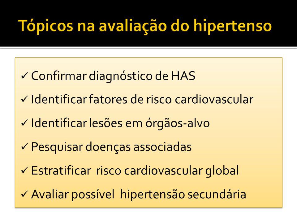 Tópicos na avaliação do hipertenso