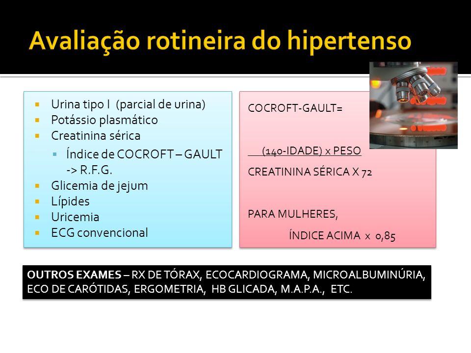 Avaliação rotineira do hipertenso