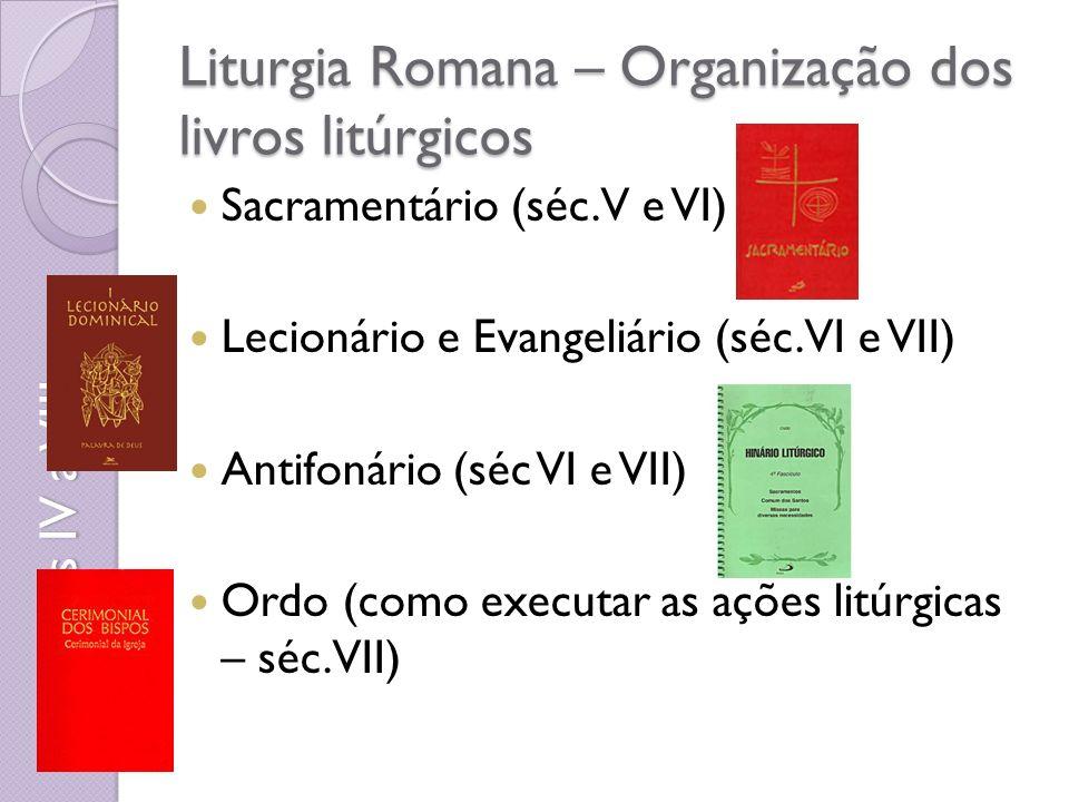 Liturgia Romana – Organização dos livros litúrgicos