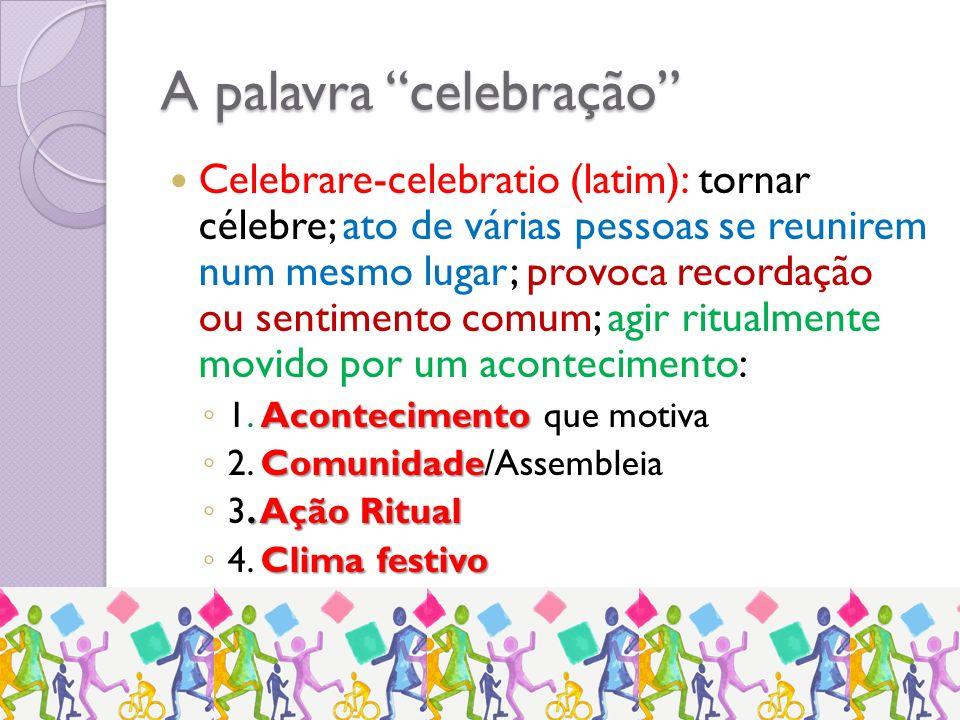 A palavra celebração