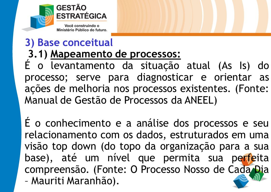 3) Base conceitual 3.1) Mapeamento de processos: