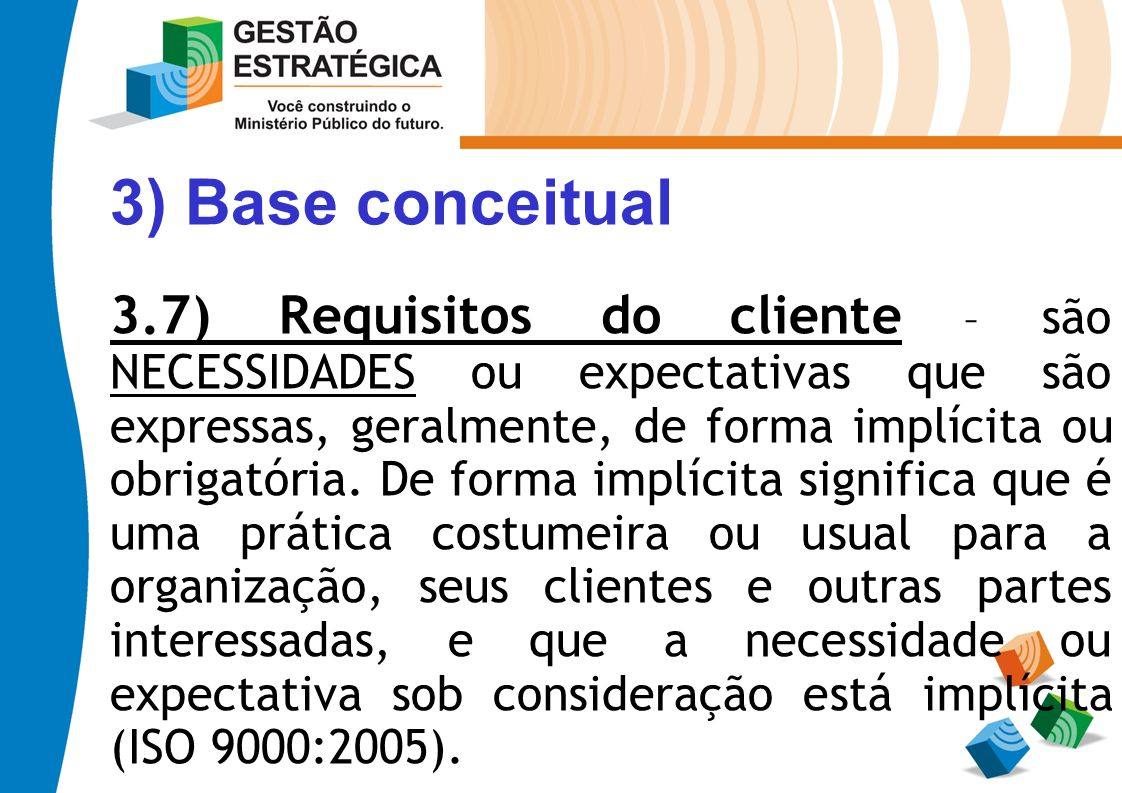 3) Base conceitual