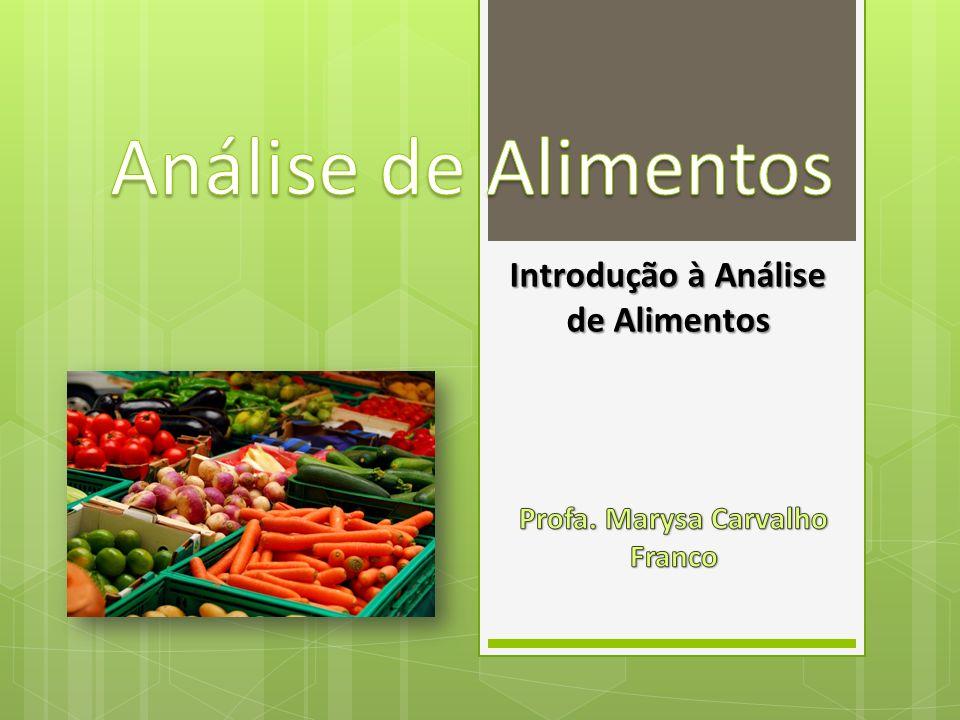 Introdução à Análise de Alimentos Profa. Marysa Carvalho Franco