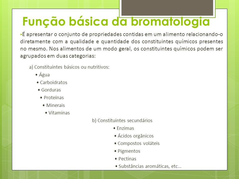 Função básica da bromatologia