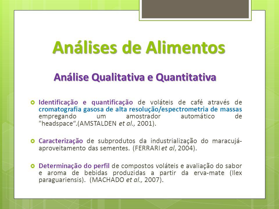 Análise Qualitativa e Quantitativa
