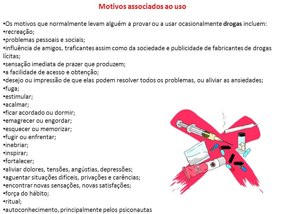 Motivos associados ao uso