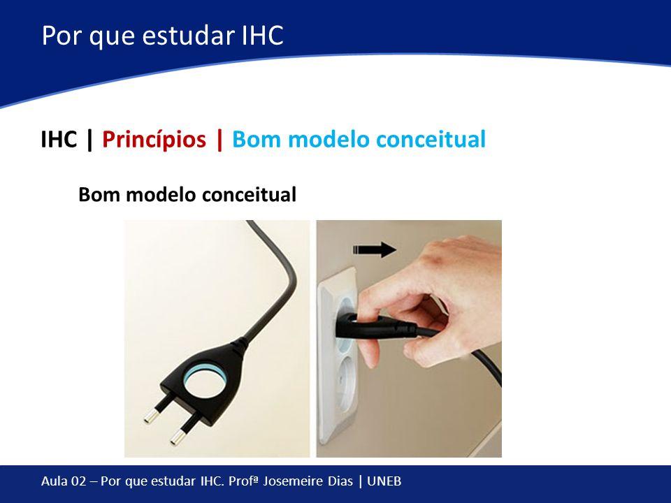 Por que estudar IHC IHC | Princípios | Bom modelo conceitual