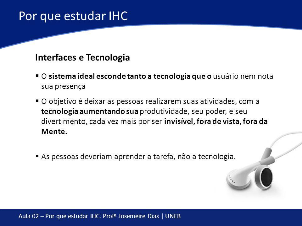 Por que estudar IHC Interfaces e Tecnologia