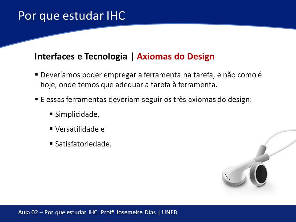 Por que estudar IHC Interfaces e Tecnologia | Axiomas do Design
