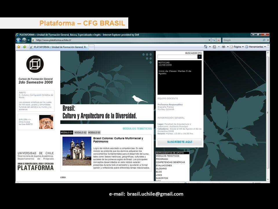Plataforma – CFG BRASIL