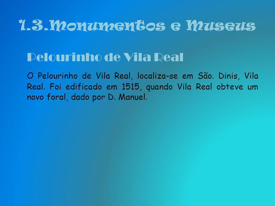 1.3.Monumentos e Museus Pelourinho de Vila Real