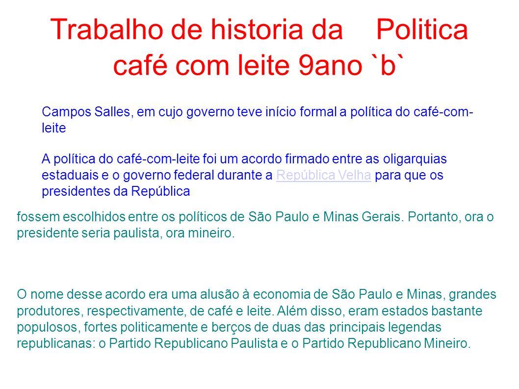 Trabalho de historia da Politica café com leite 9ano `b`