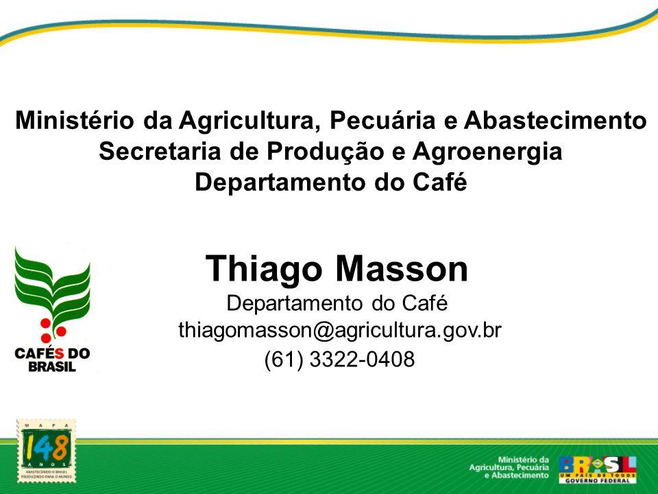 Thiago Masson Ministério da Agricultura, Pecuária e Abastecimento
