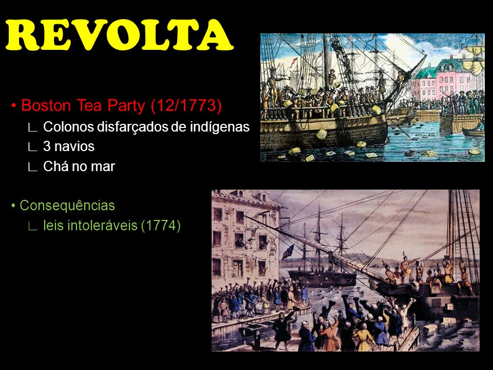 REVOLTA • Boston Tea Party (12/1773)