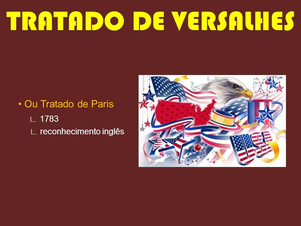 TRATADO DE VERSALHES • Ou Tratado de Paris ∟ 1783
