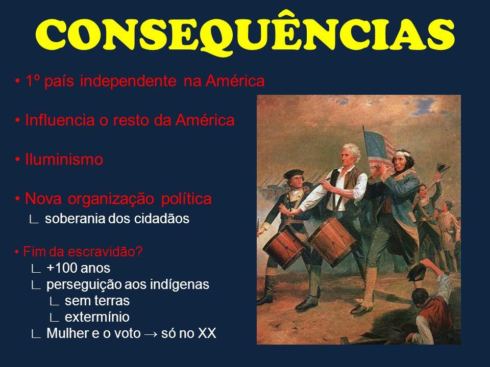 CONSEQUÊNCIAS • 1º país independente na América