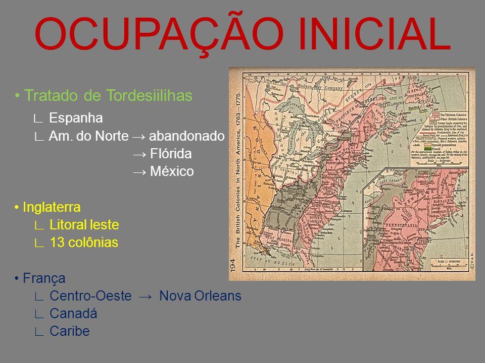 OCUPAÇÃO INICIAL • Tratado de Tordesiilihas ∟ Espanha