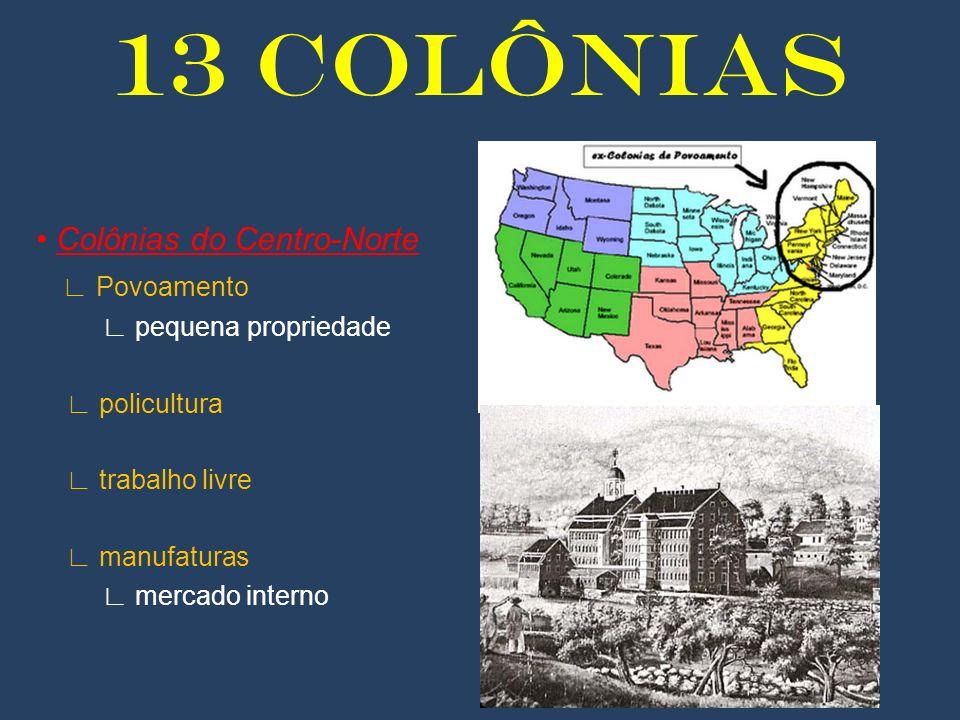 13 COLÔNIAS • Colônias do Centro-Norte ∟ Povoamento