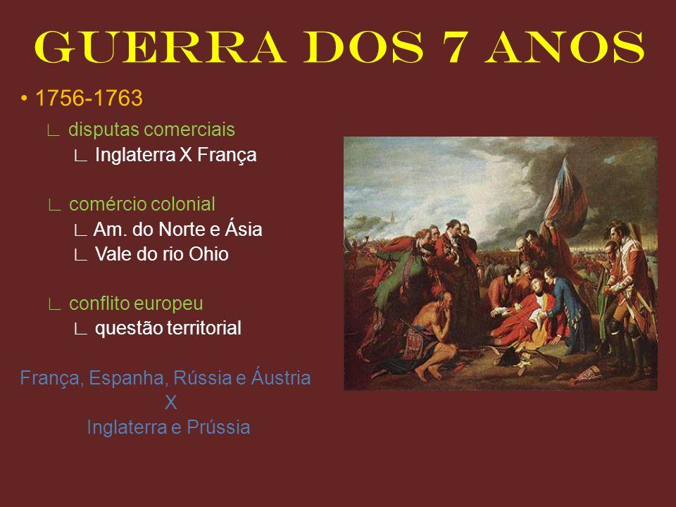 GUERRA DOS 7 ANOS • 1756-1763 ∟ disputas comerciais