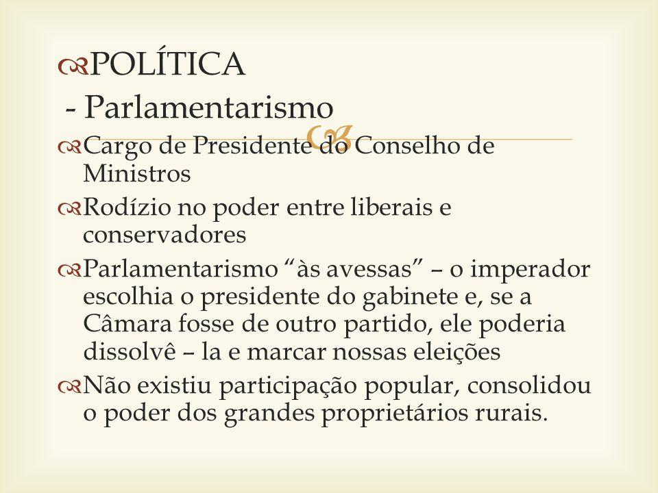 POLÍTICA - Parlamentarismo