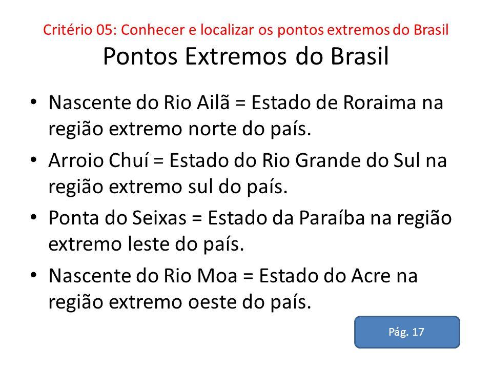 Ponta do Seixas = Estado da Paraíba na região extremo leste do país.