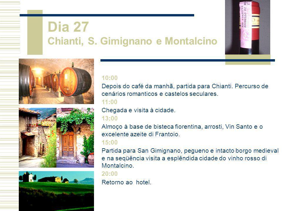 Dia 27 Chianti, S. Gimignano e Montalcino
