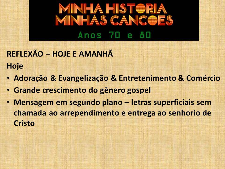 REFLEXÃO – HOJE E AMANHÃ
