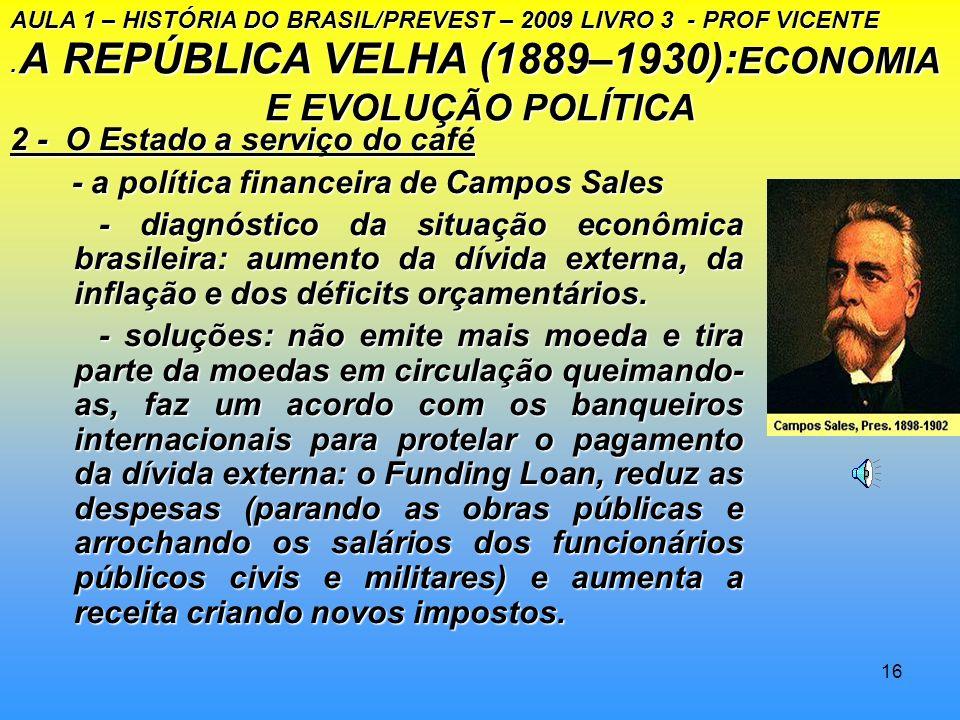 A REPÚBLICA VELHA (1889–1930):ECONOMIA E EVOLUÇÃO POLÍTICA