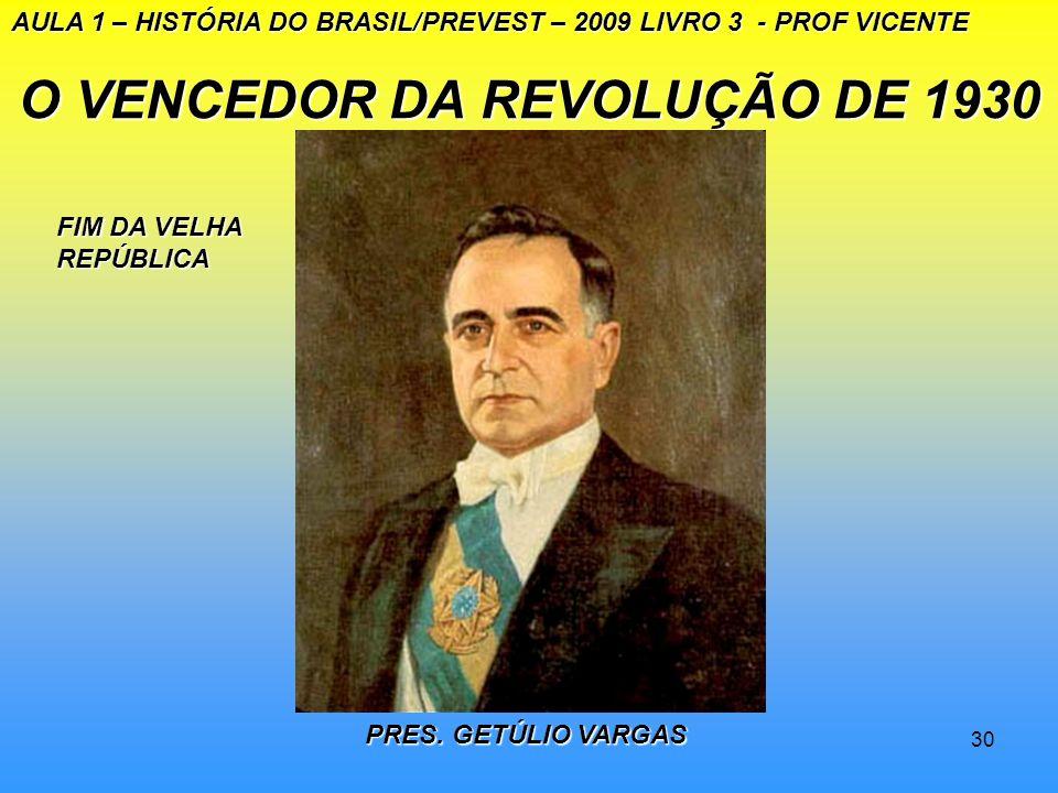 O VENCEDOR DA REVOLUÇÃO DE 1930