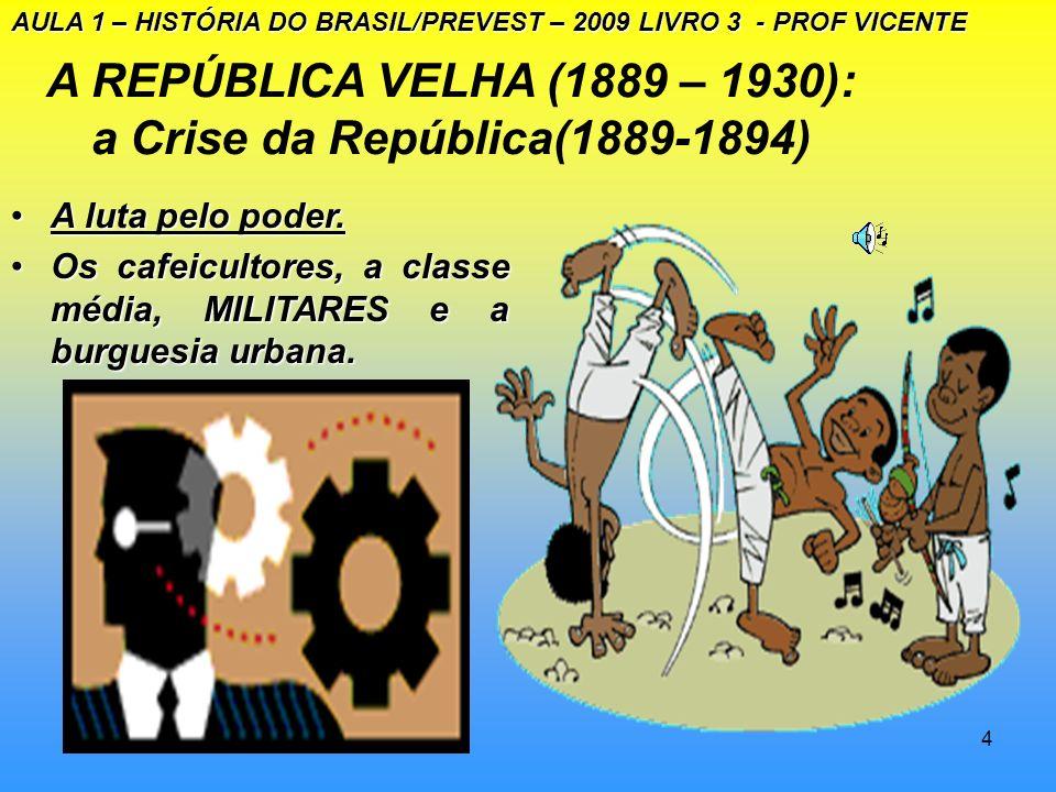 A REPÚBLICA VELHA (1889 – 1930): a Crise da República(1889-1894)
