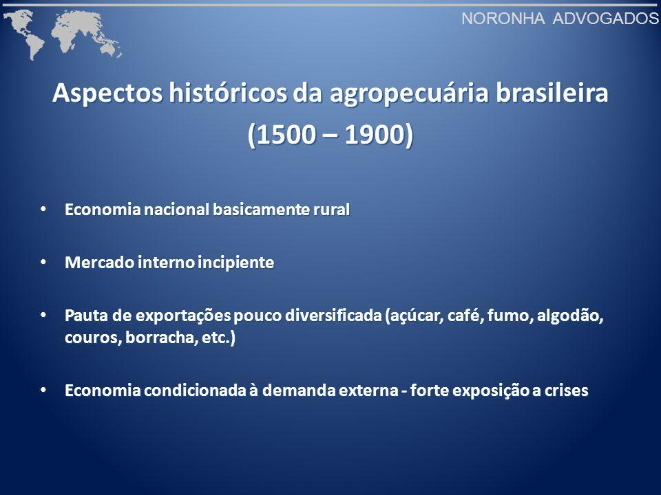 Aspectos históricos da agropecuária brasileira