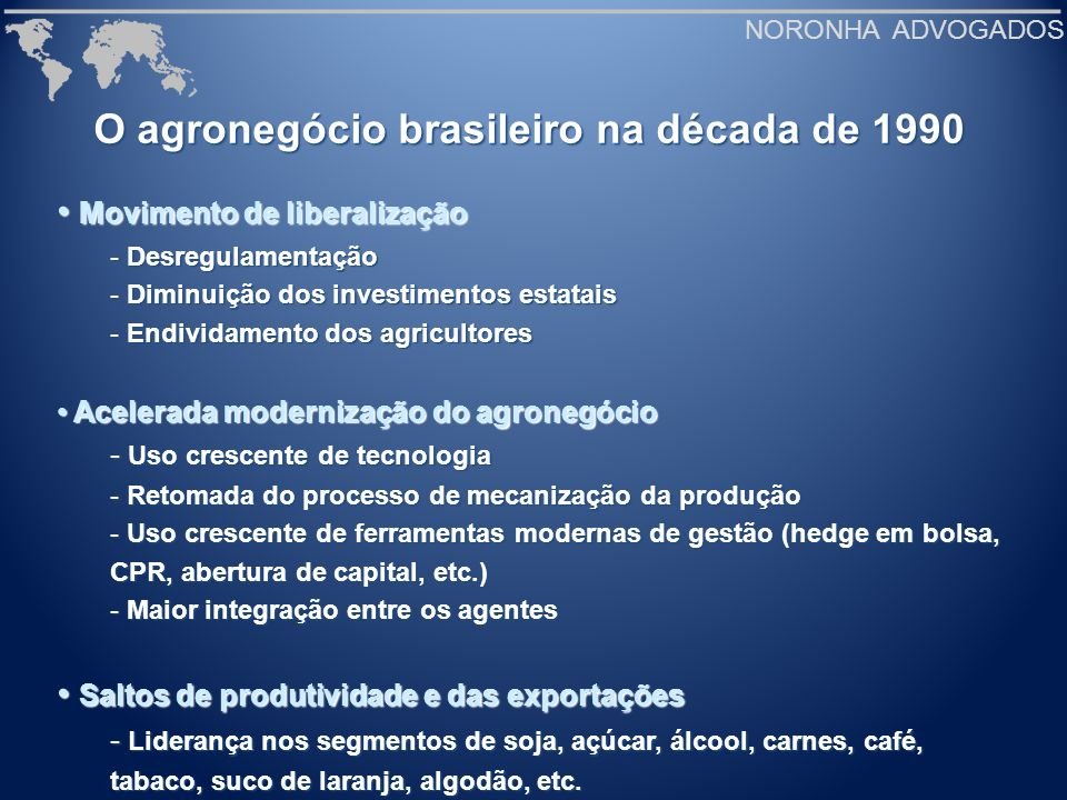 O agronegócio brasileiro na década de 1990