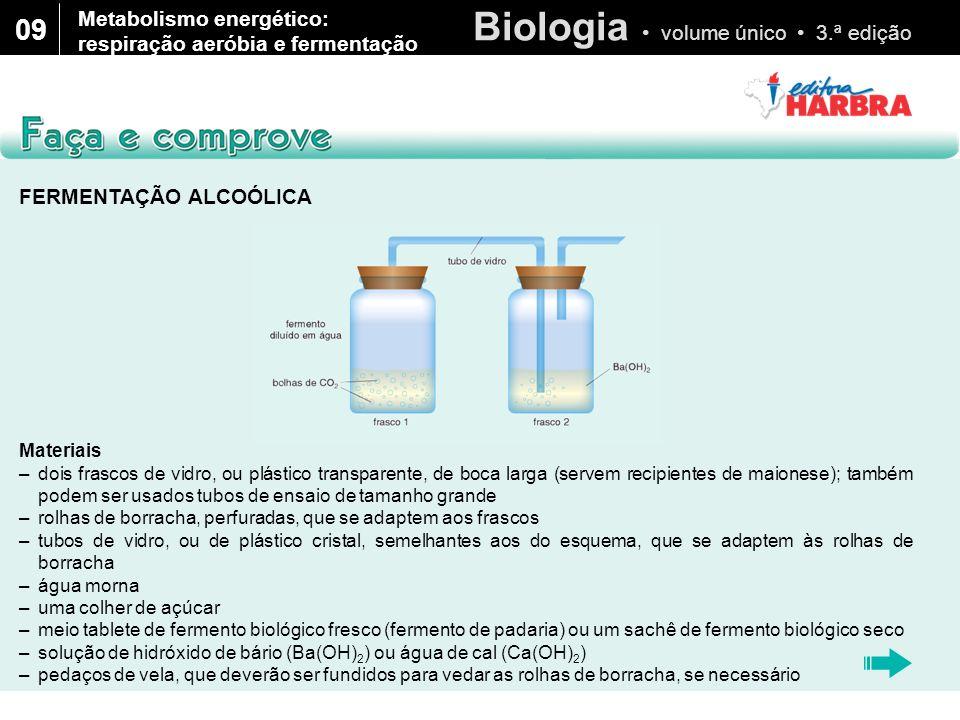 09 Metabolismo energético: respiração aeróbia e fermentação