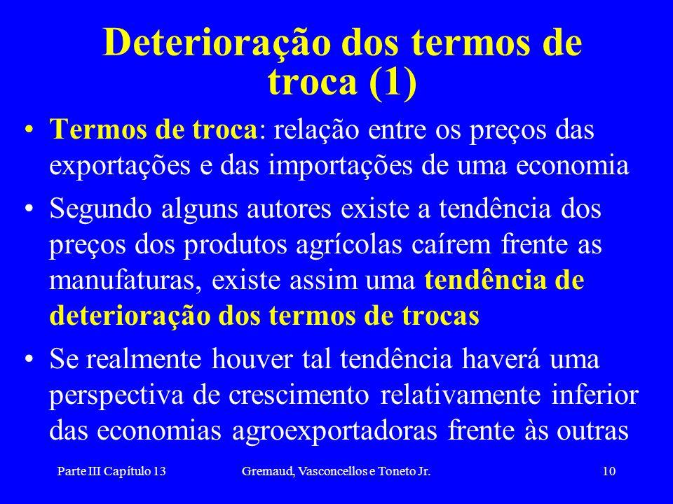 Deterioração dos termos de troca (1)