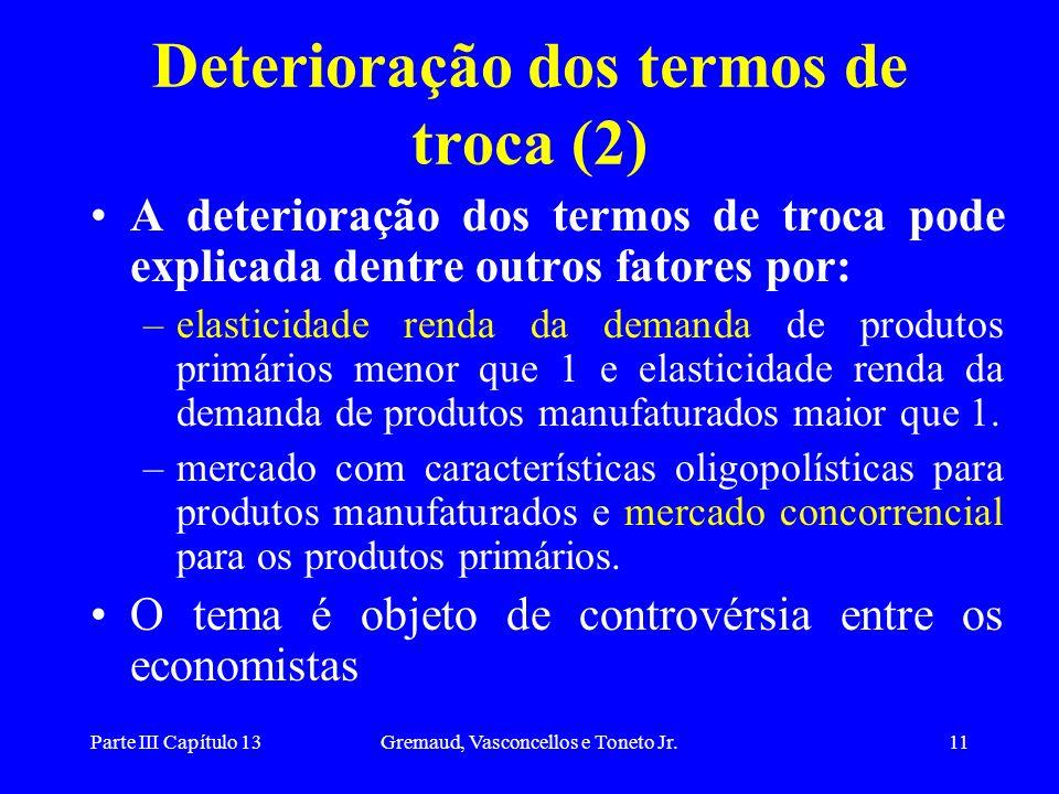 Deterioração dos termos de troca (2)