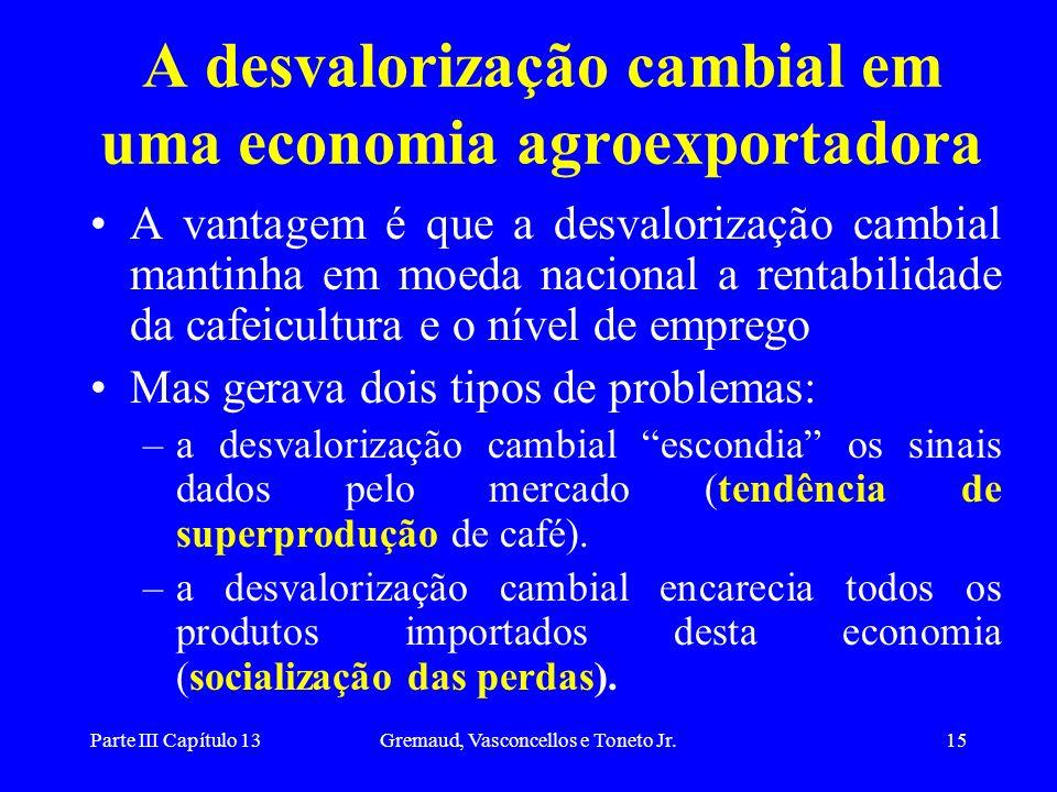 A desvalorização cambial em uma economia agroexportadora