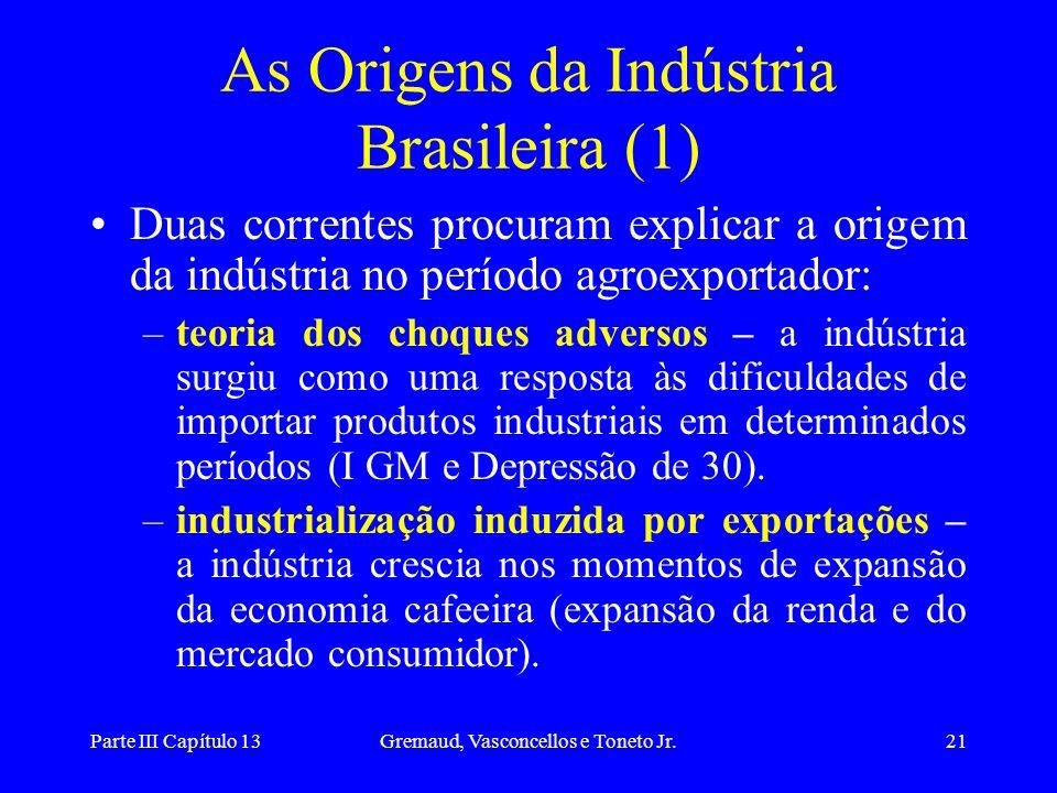 As Origens da Indústria Brasileira (1)