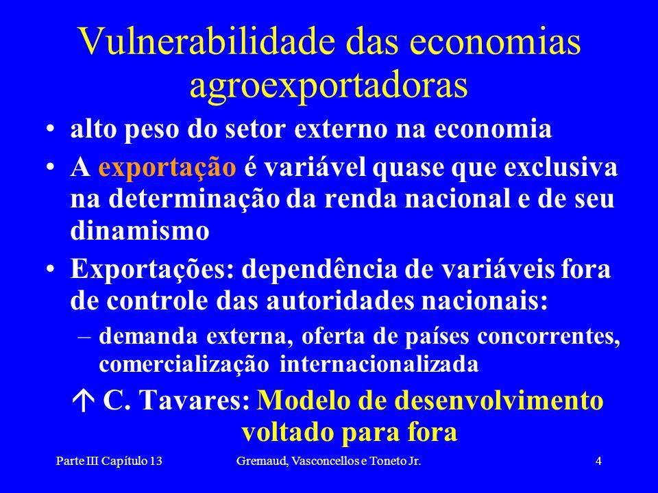 Vulnerabilidade das economias agroexportadoras